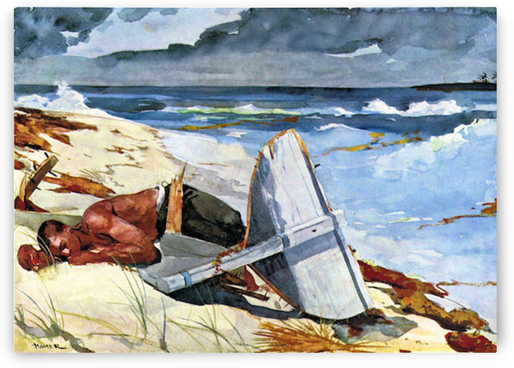 After the tornado by Winslow Homer by Winslow Homer