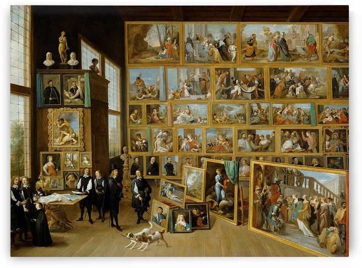 Archduke Leopold Wilhelm and the artist in the archducal picture gallery in Brussels by David Teniers the Younger