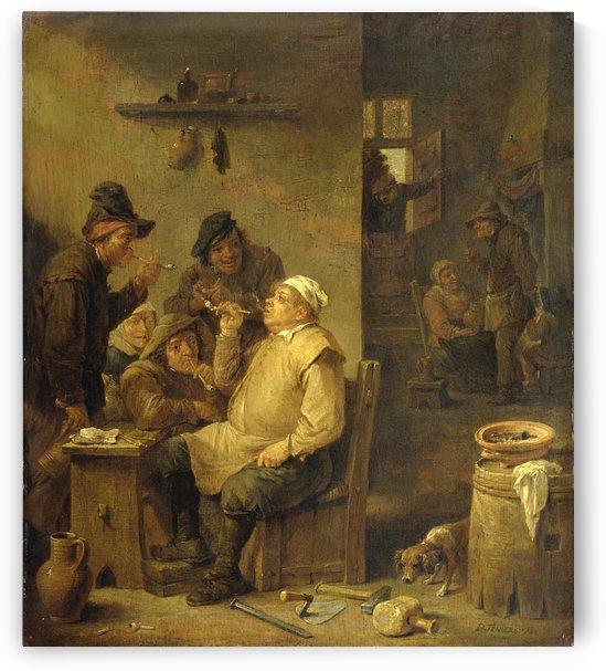 De rokende metselaar by David Teniers the Younger