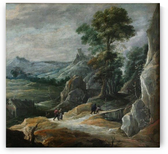 Rocky Landscape with Pilgrims by David Teniers the Younger