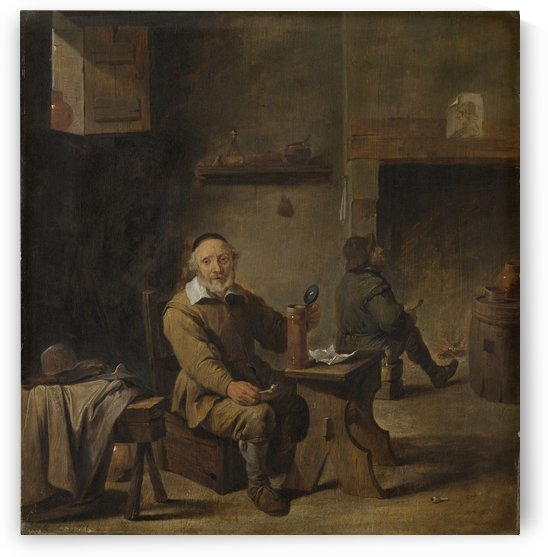 De oude bierdrinker by David Teniers the Younger