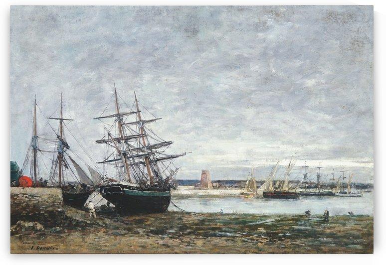 Camaret, maree basse dans la rade by Eugene Boudin