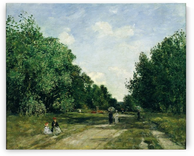 Parc Cordier in Trouville by Eugene Boudin