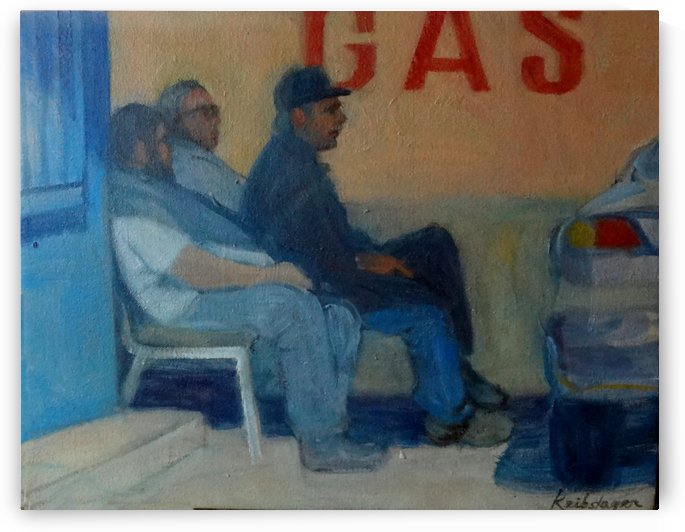 Charlies Gas Station by DONNA REIBSLAGER