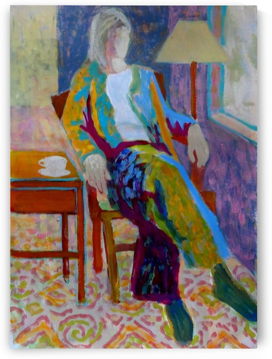 Woman in Chair by DONNA REIBSLAGER