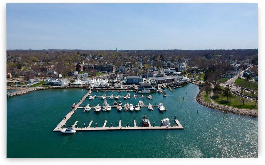 Plymouth Marina Front Plymouth MA - DW17 by Drone WorX - Boston