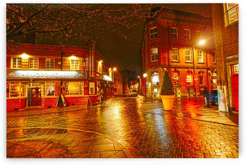 Wet streets by night by Andy Jamieson