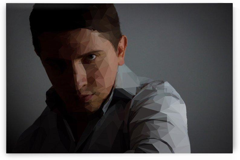 portrait of a polygon businessman by Besa Art