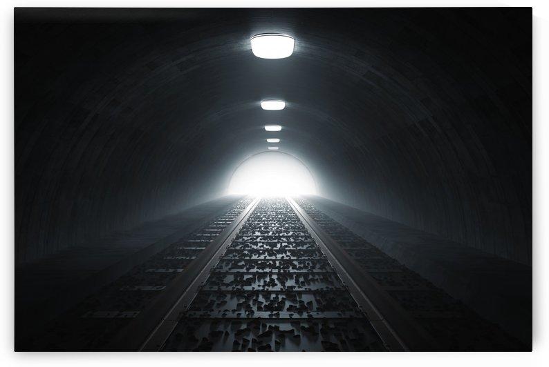 darken train tunnel by Besa Art