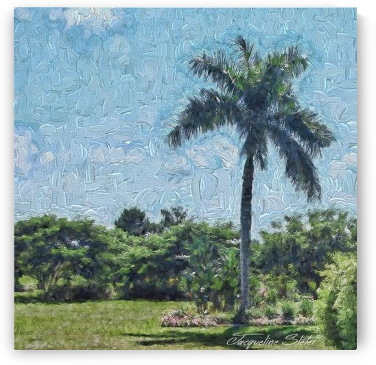 A Monet style Palm by Jacqueline Sleter