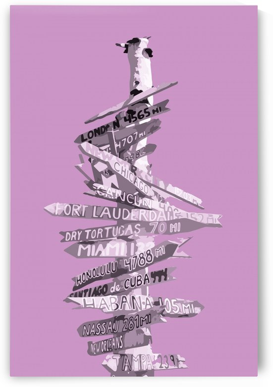 Graphic Art SIGNPOST | pink by Melanie Viola