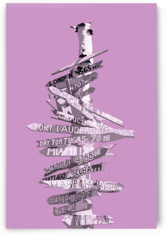 Graphic Art SIGNPOST | pink by Melanie Viola