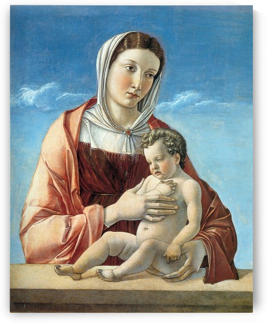 Madonna with Child Canvas by Giovanni Bellini