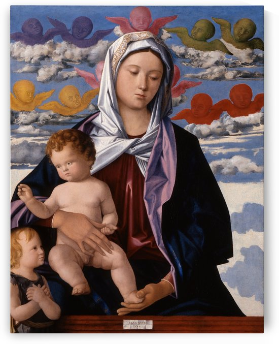 Madonna and Child with St. John the Baptist by Giovanni Bellini