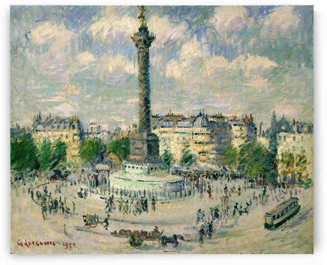 La Place de la Bastille by Gustave Loiseau