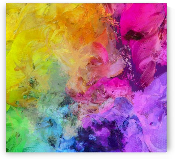 Bright Colorful Abstract Painting by Bruce Rolff