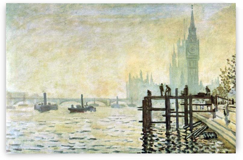 Westminster Bridge in London by Monet by Monet