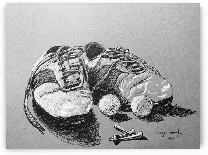 Tired  Nikes by roger vaughn