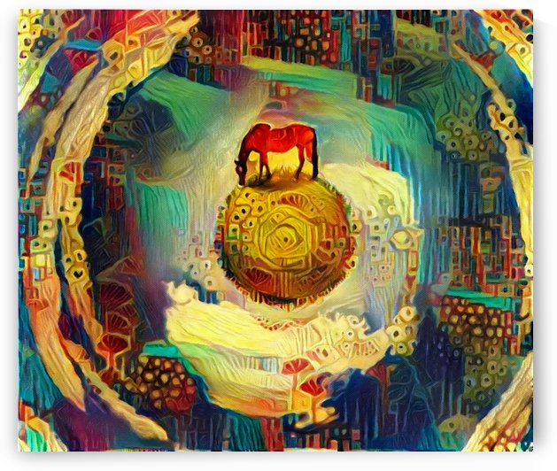 Horse on Sphere by Bruce Rolff