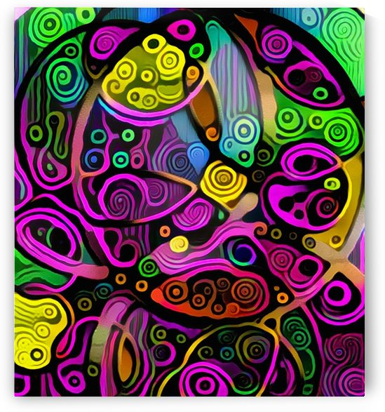 Colorful Abstract Ornament by Bruce Rolff