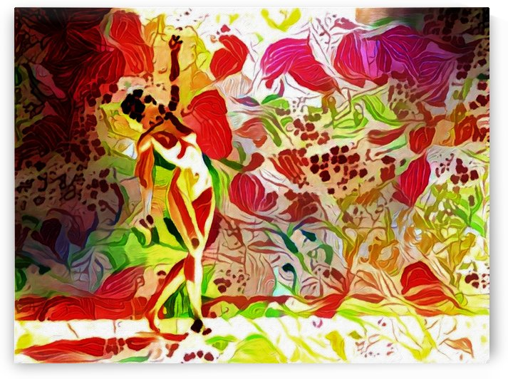 Woman in Flowers by Bruce Rolff