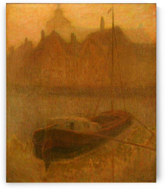 Barque sur le Canal by Henri Le Sidaner