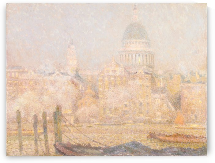 St. Pauls from the River- Morning Sun in Winter by Henri Le Sidaner