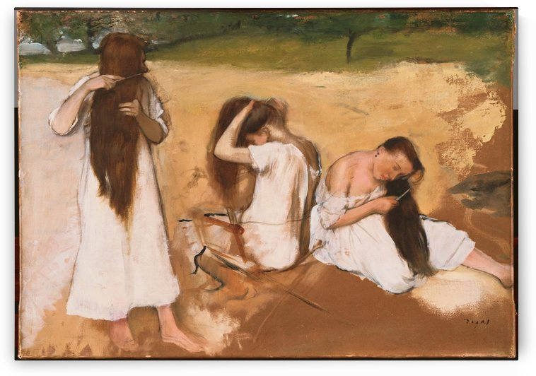 Women Combing Their Hair by Hilaire-Germain-Edgar Degas