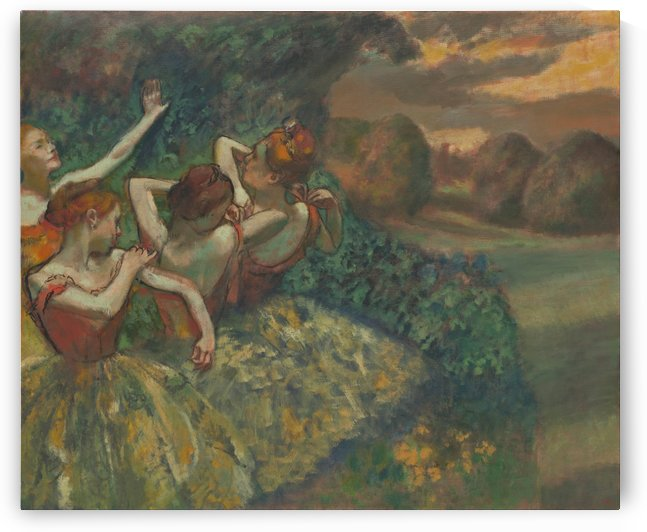 Four Dancers by Hilaire-Germain-Edgar Degas