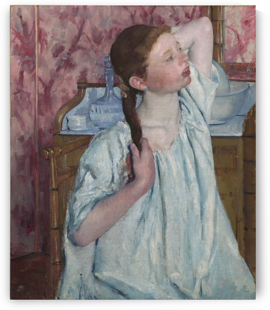 Girl Arranging Her Hair by Hilaire-Germain-Edgar Degas