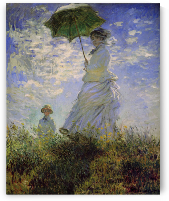 Woman with a parasol by