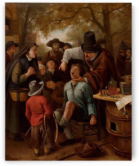 A tooth-puller by Jan Steen