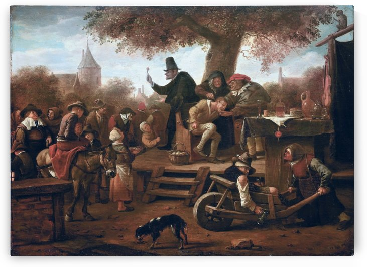 De kwakzalver by Jan Steen