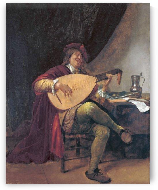 Selbstportrat als Lautenis by Jan Steen