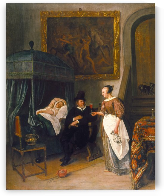 The Doctor's Visit 1660 by Jan Steen