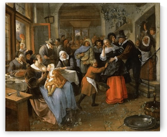 The cheated bridegroom by Jan Steen