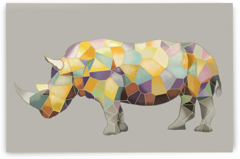Rhino Mosaic by Yurovich Gallery