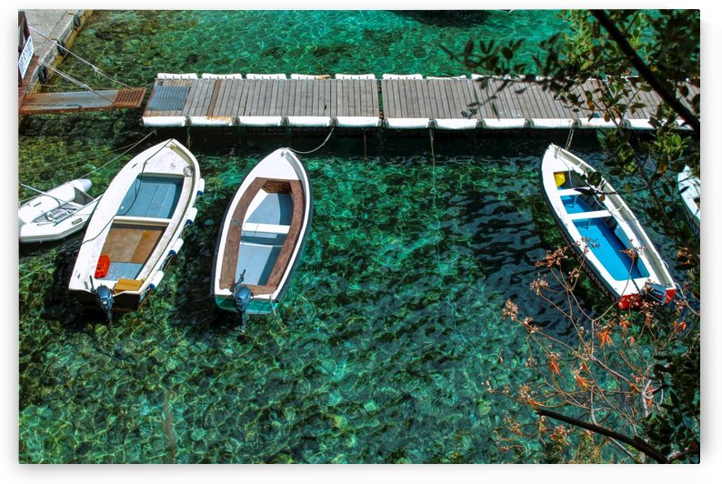 Turquoise water and Boats  by Bentivoglio Photography