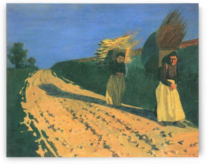 Wood-bearing women by Felix Vallotton by Felix Vallotton