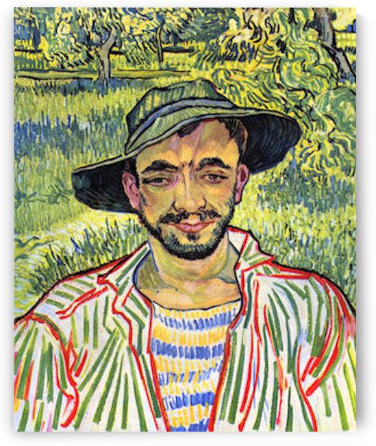 Young Farmer -1- by Van Gogh by Van Gogh