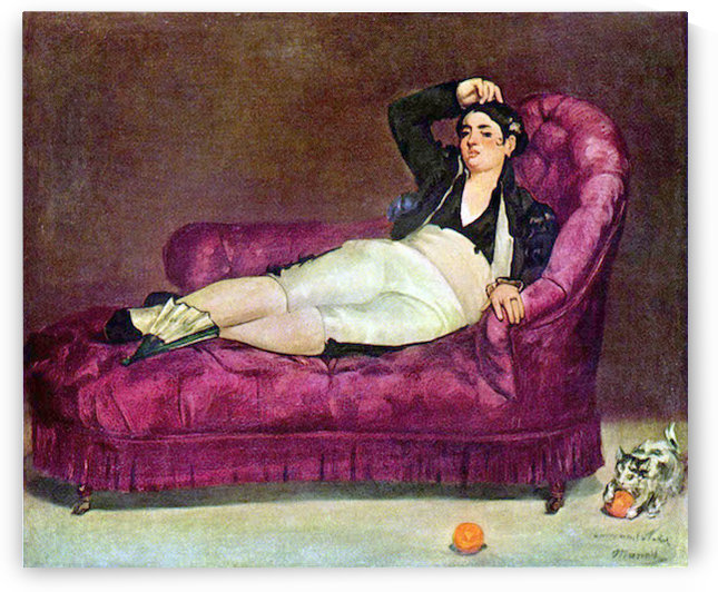 Young woman in Spanish dress by Manet by Manet