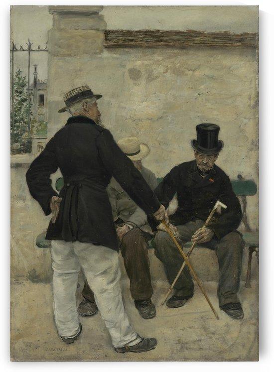 De oude officieren by Jean-Francois Raffaelli