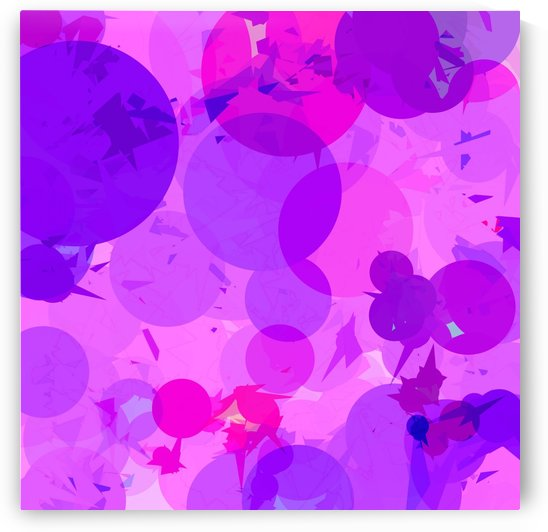 geometric circle and triangle pattern abstract in pink purple by TimmyLA
