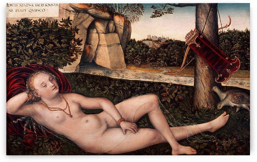 Ruhende Quellnymphe by Lucas Cranach the Elder