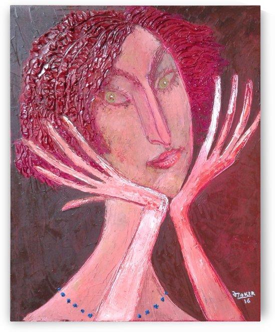 14..Daydreamer2016 Original Painting Oil on Canvas48x38cm2500$ by ZAKIR AHMEDOV