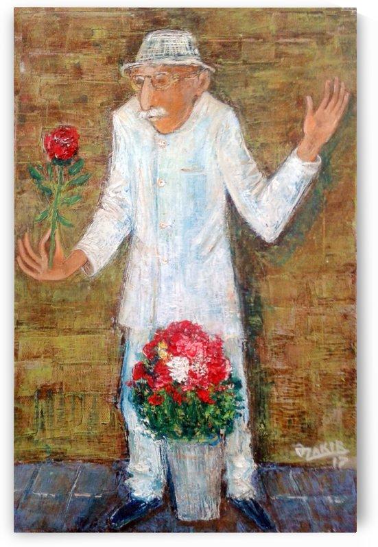 41Flower seller2017year 45x30cmOriginal Painting Oil on Canvas2500$ by ZAKIR AHMEDOV