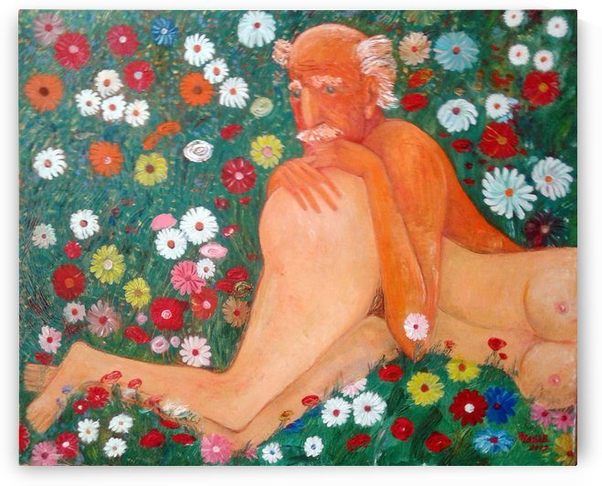 32.Beautiful world.. 2017year 110x90cmOriginal Painting Oil on Canvas 8500$ by ZAKIR AHMEDOV