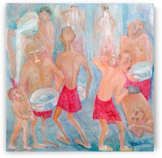 46.Turkish bath 2017year 40x40cm Original Painting Oil on Canvas2500$ by ZAKIR AHMEDOV