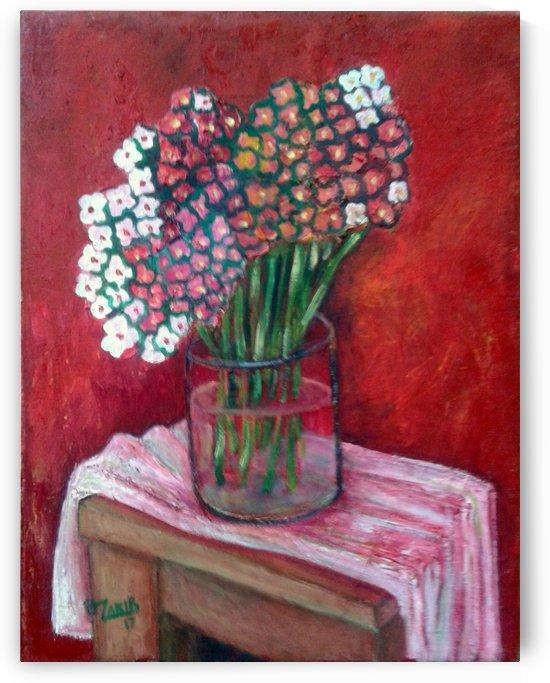 20.Spring flowers 2017year oil on canvas 45x35 cm1500$ by ZAKIR AHMEDOV
