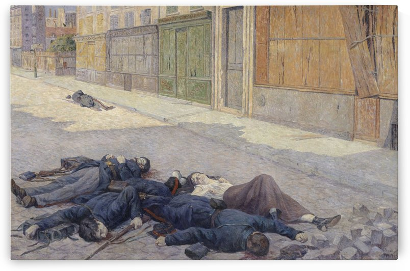 A Street in Paris in May 1871 by Maximilien Luce